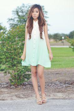 Mink Pink Great White Shirt Dress