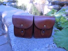 French Leather Double Ammo Pouch Steampunk Military