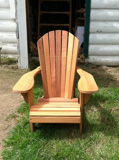 Most Comfortable Arondinack Chair | Cedar Chairs | Outdoor Wood Chairs |  Seattle Chairs | Wood