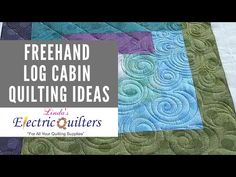 Corey Pearson joins V. Taylor in her studio to discuss and quilt different freehand quilting ideas for Log Cabin quilt blocks! Many of you know Corey . Longarm Quilting, Free Motion Quilting, Quilting Tips, Quilting Tutorials, Machine Quilting Designs, Log Cabin Quilts, Quilt Blocks, Make It Yourself, Artwork