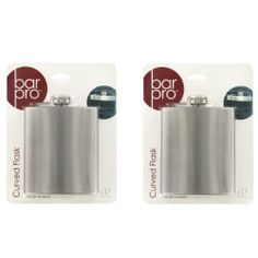 Bar Pro Curved Flask - 2 Pack by GD. $16.99. The perfect discreet and stylish bar item. Holds 7 oz. of your favorite drink. Style without sacrificing durability or function. This is for a 2 pack of flasks. Good for a groomsman gift or for a birthday gift. What could possibly be better than passing around a couple of flasks of nice scotch after you and your team have summited? These will fit just about anywhere in your pack, so there is no excuse for not bringing it along...