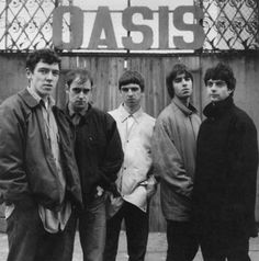 The original Oasis line up with Tony McCarrol, Paul Arthurs, Paul McGuigan & Noel and Liam Gallagher Liam Gallagher, Oasis Band, Will Turner, Playlists, Great Bands, Cool Bands, Music Love, My Music, Rock N Roll