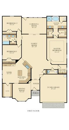 Marion floor plan Coosaw preserve---needs some changes, but like the bedroom setup Sims House Plans, New House Plans, Dream House Plans, Small House Plans, House Floor Plans, Dream Home Design, My Dream Home, House Blueprints, House Layouts