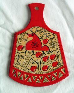 Mezenskaya decorative painting board