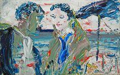 Jack Butler Yeats (Irish, By Drumcliffe Strand, Long Ago, Oil on board, 23 x cm. Contemporary Artists, Modern Art, Irish Painters, Jack B, Irish Art, Impressionist, Butler, Fine Art, History