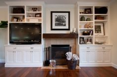 Fireplace built ins built in cabinets around fireplace entertainment center and bookcase for awesome built ins . Bookshelves Around Fireplace, Built In Around Fireplace, Fireplace Built Ins, Bookshelves Built In, Fireplace Wall, Fireplace Design, Fireplace Ideas, Fireplace Pictures, Small Fireplace