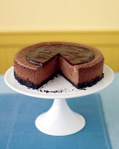 Triple-Chocolate Cheesecake - Martha Stewart Recipes