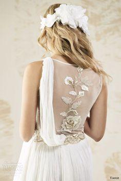 v souz wedding dresses 2014 gorgo sleeveless bridal gown back embroidered detail Wedding Dresses 2014, Wedding Gowns, Bridal Gown, Wedding Bells, Bridal Looks, Bridal Style, Maid Dress, Bridal Collection, Elegant Wedding