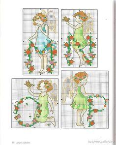 Alphabet Fairies - 5/8 Solo Patrones Punto Cruz (pág. 436) | Aprender manualidades es facilisimo.com