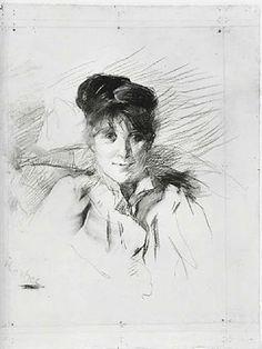 Henri de Toulouse-Lautrec - Portrait of a Woman, 1895