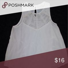 White mesh caged lush blouse Super cute, top is mesh see through Tobi Tops Blouses