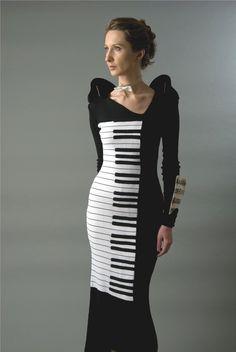 Wearable Art Concert Piano dress.   Surreal & very Schiaparelli...