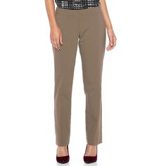 Women's Apt. 9® Torie Straight-Leg Dress Pants, Size: 12 Short, Brown Oth