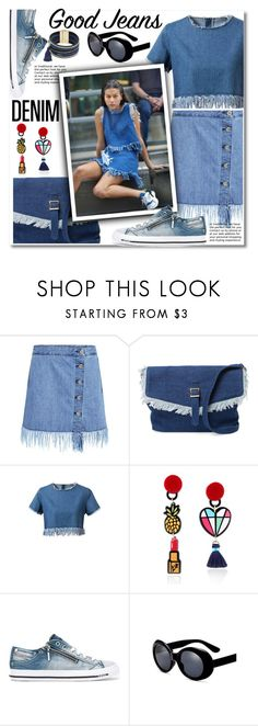 """""""All Denim, Head to Toe"""" by paculi ❤ liked on Polyvore featuring 3x1, Meli Melo, Diesel, Cara, StreetStyle, casual, denim and alldenim"""