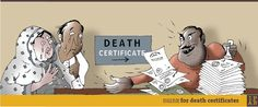 The grief around death (certificates)
