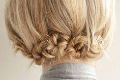 cute little buns   http://twistbraidhairstyles.blogspot.com