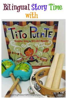 I love that this biography on Tito Puente's life is appropriate for younger children (pre-school and kindergarten). The wording on the book is easy enough to learn new Spanish words!