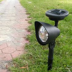 US $6.48  5% Off   Outdoor Solar Lamp Garden 3 LED Solar Powered Spot Landscape Spot Light LED Spotlight Lamp Energy saving Garden Lamp Outdoor Solar Lamps, Outdoor Lighting, Outdoor Decor, Spotlight Lamp, Lawn Lights, Garden Lamps, Home And Garden, Garden Path, Solar Power