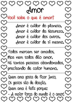 Texto como tema AMOR para trabalhar em Ensino Religioso. Books, Kids Activities At Home, Music Classes For Kids, Lesson Plans For Elementary, Human Values, Catechism, Songs, Lyrics, Libros