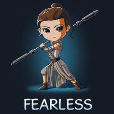Fearless t-shirt Star Wars TeeTurtle Rey Star Wars, Star Wars Quotes, Star Wars Humor, Star Wars Drawings, Cute Drawings, Star Wars Zeichnungen, Drawing Stars, Star Wars Personajes, Star Wars Wallpaper