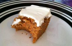 I used only cup Splenda and omitted the walnuts and frosting. Such a GREAT recipe! Pumpkin Protein Bars, Protein Desserts, High Protein Recipes, Protein Foods, Healthy Sweet Treats, Healthy Snacks, Low Carb Carrot Cake, Splenda Recipes, Delicious Desserts
