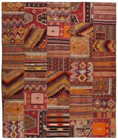 more loom rug goodness, these hepsi rugs are refahioned out of a patchwork of other rugs.