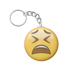 Tired Face Emoji Keychain