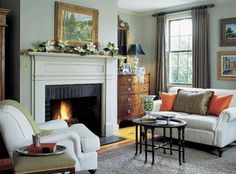 Cottage Style Interior Paint Colors   Fantastic green gray paint wall colors adorable cottage living room