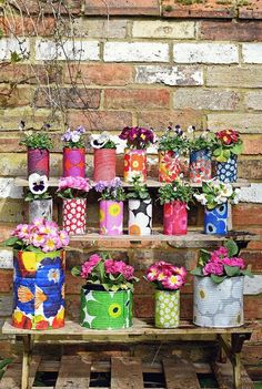 Gorgeous Colorful Planters to Brighten up Any Small Garden.