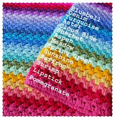 Annie's Place: Granny Stripe Colour Sequence - for rainbow afghan? Description from pinterest.com. I searched for this on bing.com/images