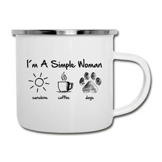 ☀ Get Yours ✔ 1 week delivery time ✔ fast and simple replacement ✔ we print in Germany & ship worldwide Dog Coffee, Tassen Design, Shops, Dog Wear, Cream And Sugar, Dog Shirt, Dog Days, Camper, Tumblers