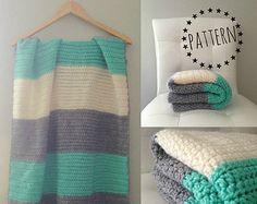 Mid-Century Modern Crochet Baby Blanket Pattern por LeoAndMeShop