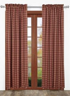 "Warm up your room with our Kendrick Scalloped Lined Panel Curtains 84""! https://www.primitivestarquiltshop.com/products/kendrick-scalloped-lined-panel-curtains-84 #countrystylecurtains"