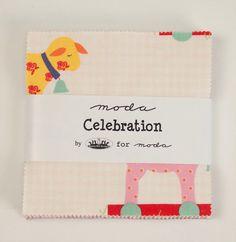 Moda Fabric CELEBRATION Bunny Hill Designs 42 Piece Charm Pack Children's Fabric