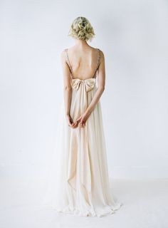 Eden // Rose Gold Sequinned Backless Wedding Dress by Truvelle