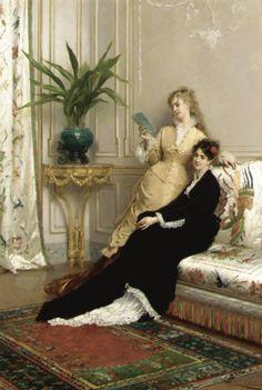 Gustave de Jonghe (1829 - 1893) - The letter