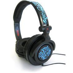 Maxell AMPlified Headphones, Tribal Blueglow