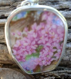 Broken China Pendant  Chaney Sterling Silver  by MaroonedJewelry, $35.00