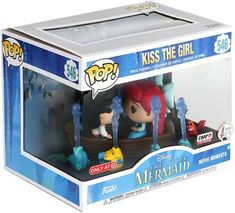 Kiss the Girl (Movie Moments) Vinyl Figure 546 Prince Eric, Funko Pop Display, Mermaid Movies, Pop Disney, Animation Disney, Funko Pop Dolls, Mode Alternative, Ariel, Pop Figurine