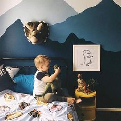 We've been fueling dino obsessions since 2014     Thanks, as always @kayleighmcglynn, for this gorgeous room (and I hope your foot is on the mend, cos' I image running after little peeps with a broken foot is painful ). Instantly downloadable baby dinosaur printables available via the link in our profile.    #Regram via @onetinytribe