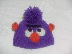 Crochet hat, children hat, gift hat, baby hat, pompom hats, infant hats, purple hat
