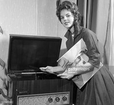 Priscilla Beaulieu is Elvis Presley's girl back in Germany plays a record of her man