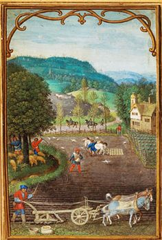 Simon Bening - October - from ? Book of Hours ? - c.1540