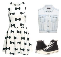 """""""I LOVE THIS ON!!!!!!!"""" by caro3302 ❤ liked on Polyvore featuring Converse and Forever New"""