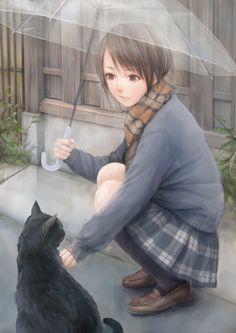e-shuushuu kawaii and moe anime image board Moe Anime, Anime Chibi, Manga Anime, Anime Art, She And Her Cat, Son Chat, Kawaii, Anime People, Beautiful Anime Girl