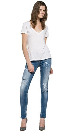 Rose skinny fit jeans. New spring summer 2016 sneak preview! The new #Replay jeans. #Hyperflex #StretchDenim #Jogg #Jeans