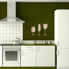 Wine Glass Wall Decal Set | Wall Decal World only $19. Save 10% by using SALE10 at the checkout.