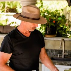 """The Florence Straw Hat is a top seller as it features the classic Panama hat aesthetic with lightweight construction, ventilation, and maximum comfortability. The 3 ½"""" brim, 4"""" crown, patterned leather hatband, and optional chin strap make it the perfect protective accessory for an outdoor adventure, day on the golf course, or evening spent lounging in a hammock watching the sunset. Wear it, love it, and know you'll never leave it. Popular Hats, Red Carpet Event, Hats Online, Selling Online, Leather Accessories, Sun Hats, Hammock, Florence, Panama Hat"""