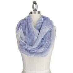 Purple White Chevron Infinity Scarf - $28.00