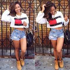 Sotomilitia Fashion Killa Trillfiger Tommy Hilfiger Inspired Crop Top Jumper Sweater White Worn By Liane V Pretty Girl Swag Urban Streetwear Style